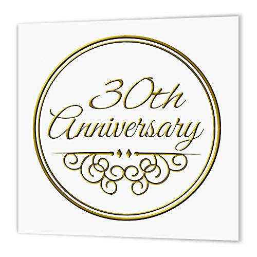 3dRose ht_154472_2 30Th Anniversary Celebrating Wedding Anniversaries Years Married Together- Iron on Heat Transfer, 6 by 6-Inch, for White Material von 3dRose
