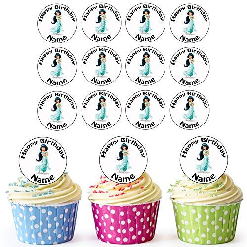 Essbare Cupcake Aufleger Geburtstagskuchen Dekorationen Einhorn 24 Personalisierte Vorgeschnittene Kreise