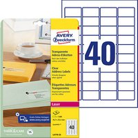 1.000 AVERY Zweckform Folien-Adressetiketten L4770-25 transparent von AVERY Zweckform