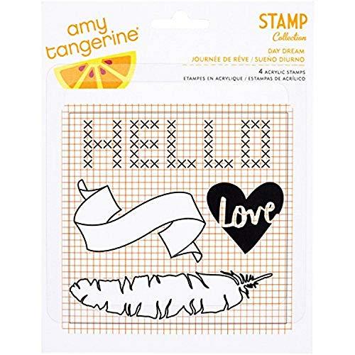 Acryl Mehrfarbig 3-teilig American Crafts Geschenk Tasche mit Band Griffe und Maurerkelle X 4-Zoll Perlenquasten Girlande mit Gold Folie