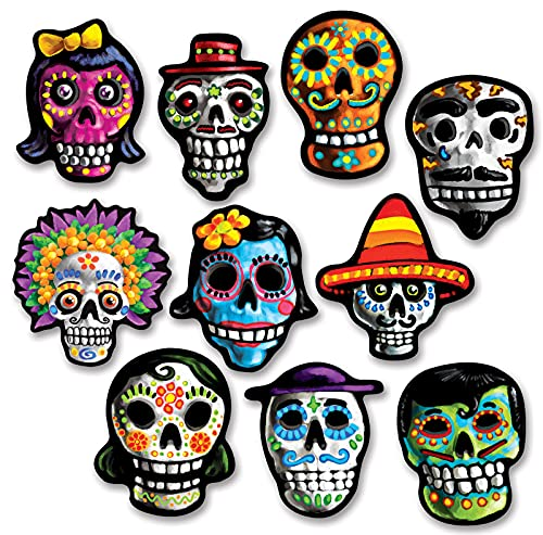 Beistle Day of The Dead Cutouts, 12 cm von Beistle