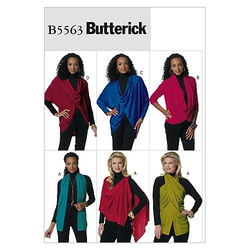 Butterick Patterns B5563 Misses' Top, Size Y (XSM-SML-MED) von Butterick Patterns