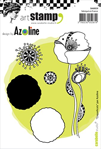 Carabelle Studio A6 Cling Stempel - Poppies by Azoline, Rubber, White transparent, 10 x 14 x 0.5 cm von Carabelle Studio