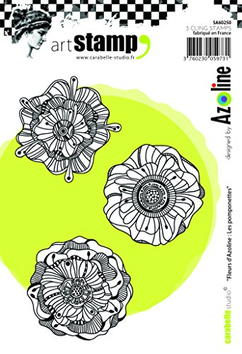 Carabelle Studio A6 Cling Stempel - Flowers by Azoline: The Pomponettes Rubber White transparent 10 x 14 x 0.5 cm von Carabelle Studio