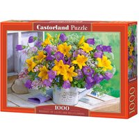 Bouquet of Lilies and Bellflowers - Puzzle - 1000 Teile von Castorland