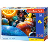 Planets and their Moons - Puzzle - 300 Teile von Castorland