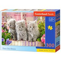 Three Grey Kittens - Puzzle - 300 Teile von Castorland