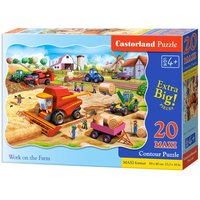Work on the Farm - Puzzle - 20 Teile maxi von Castorland