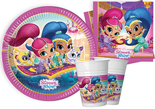 Ciao – Shimmer and Shine Kit Party Tisch, mehrfarbig, S (8 Personen), y4614 von Ciao
