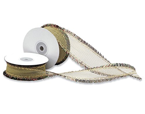 Club Green Flitter Edge Band, Gold, 25 mm x 15 m von Club Green