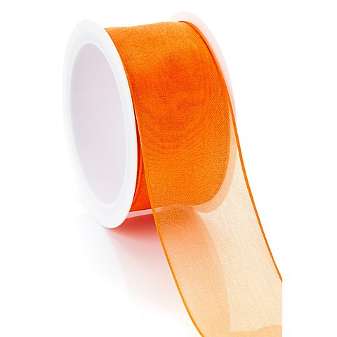 Chiffonband, orange, 40 mm, 5 m