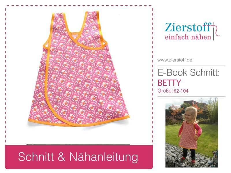 "Kittelkleid / Schürzenkleid ""BETTY"" - Schnitt & E-Book, Gr 62-104 [Digital]"
