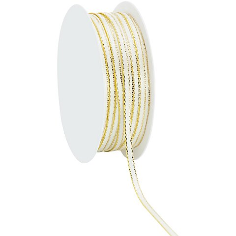 Satinband, creme-gold, 3 mm, 20 m