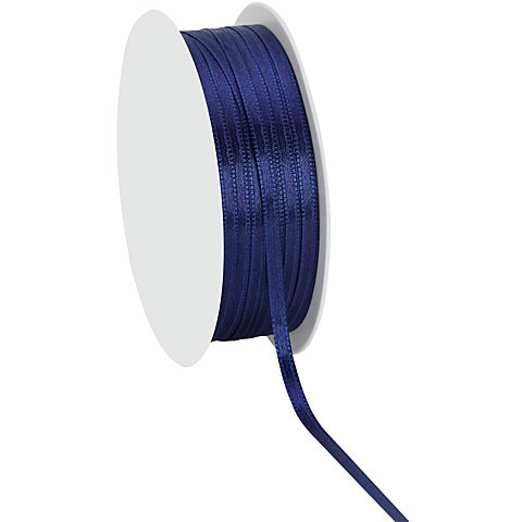 Satinband, marine, 3 mm, 20 m