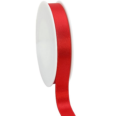 Satinband, rot, 15 mm, 50 m