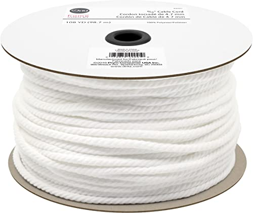 Dritz Cable Cord 3/16'' White Stoff, Textil, Waterfall, 1 von Dritz