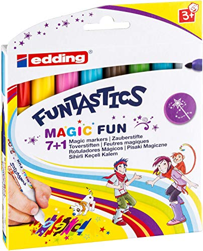 edding 4-13-8 Fasermaler Magic Marker Funtastics, 8-er Set, circa 3 mm von edding