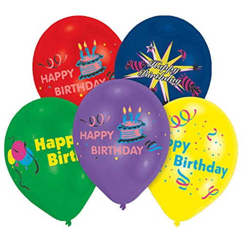 Everts 46010 Amscan Latexballons Happy Birthday, farbig Sortiert von Everts Ballon