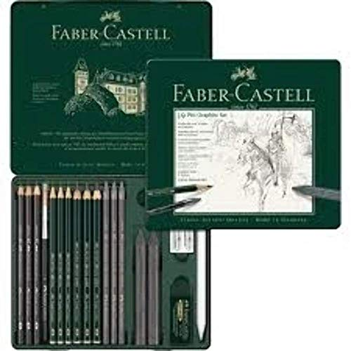 FABER-CASTELL PITT GRAPHITE Set medium, 18-teiliges Etui VE = 1 von Faber-Castell