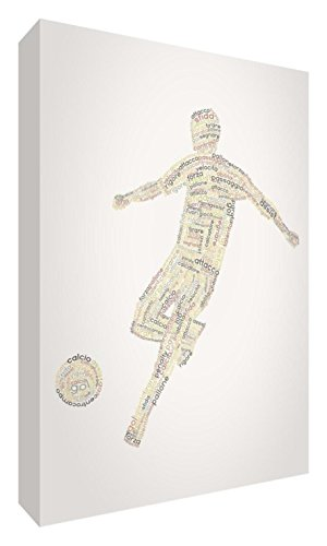 Feel Good Art football1624 – 01It Grande (60 x 40 x 4cm) Autumnal Tones von Feel Good Art