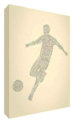 Feel Good Art football2436 – 01It X-Grande (60 x 91 x 4cm) cremefarben von Feel Good Art
