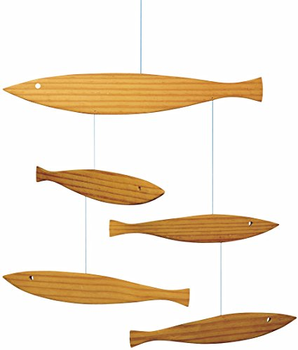 Flensted Mobiles Floating Fish pine 27x37cm von Flensted Mobiles
