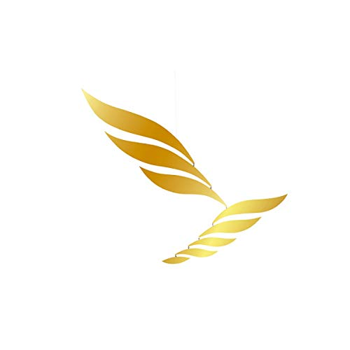 Flensted Mobiles - Mobile - Windspiel - Golden Rhythm - Aluminium - 72 x 70 cm von Flensted Mobiles