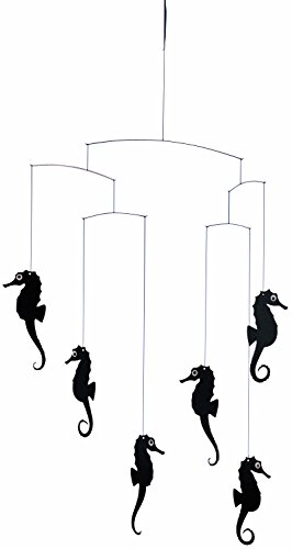 Flensted Mobiles Sea Horse Mobile, black black 57x40cm von Flensted Mobiles