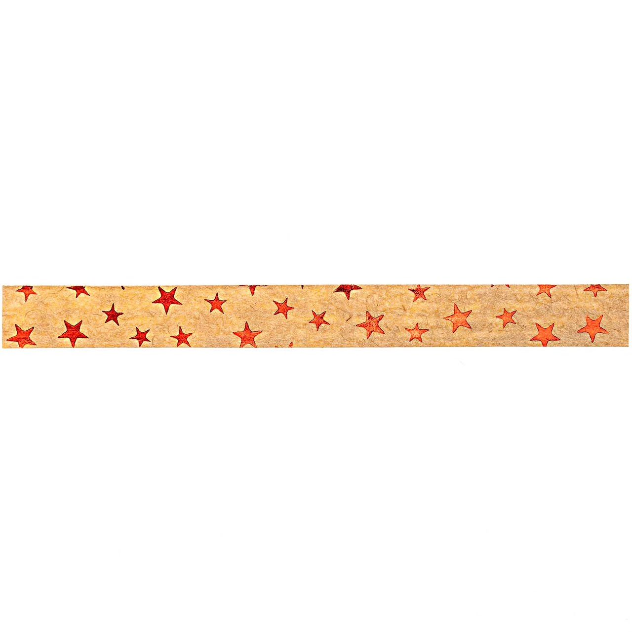 GOLDINA Packpapier-Ringelband hellbraun-rot 10mm 12m Hot Foil von GOLDINA
