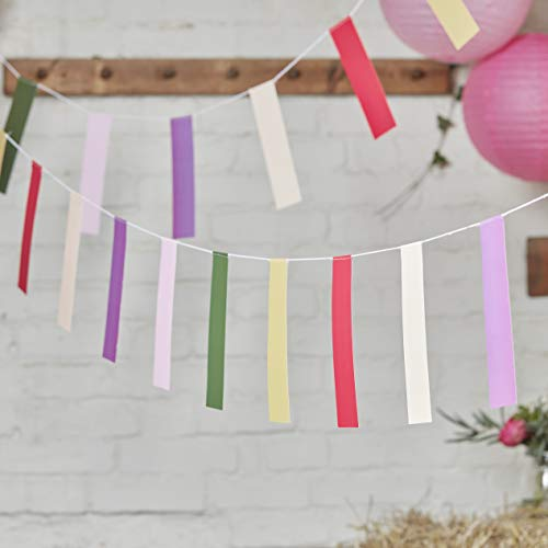 Ginger Ray Multi Colored Hochzeit oder Party Bunting-5 Meter von Ginger Ray