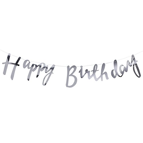 Pick and Mix - Silver Happy Birthday Banner Bunting von Ginger Ray