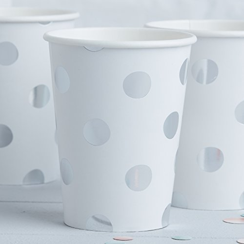 Pick and Mix - Silver Foiled Polka Dot Paper Cups von Ginger Ray