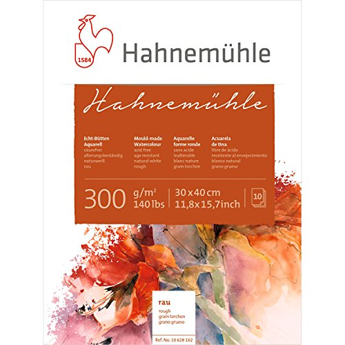 Hahnemuhle 300gsm Rough Watercolour Board block, 10 sheets, 30x40cm von Hahnemühle