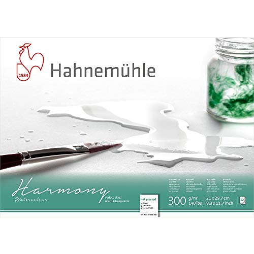 Hahnemuhle Harmony Watercolour Block Hot Press A4 von Hahnemuhle