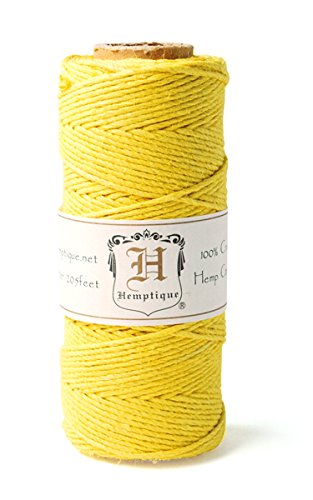 Hemp Cord Spool 20# 205'/Pkg-Yellow von Hemptique