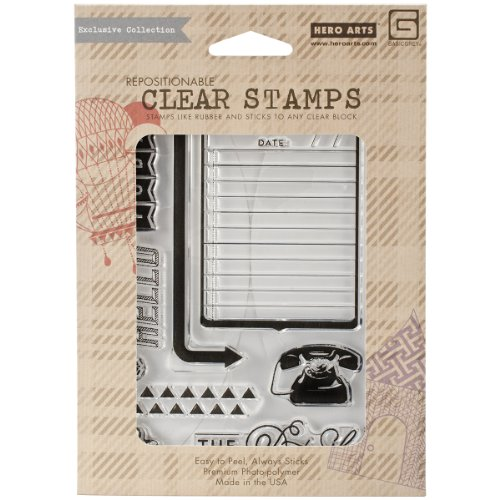 Hero Arts Capture Clear Stamps, The Details, Basic Grey von Hero Arts