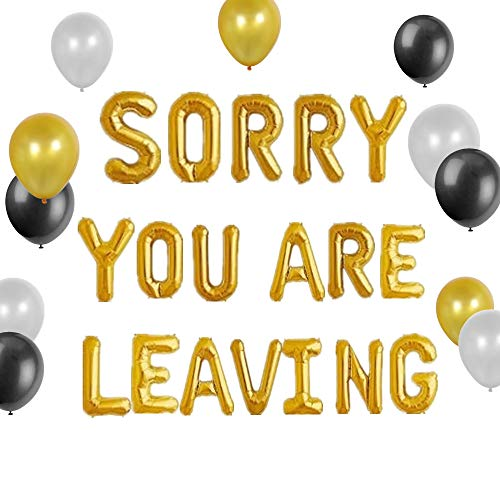 JeVenis Set of 13 Sorry You Are Leaving Sign Sorry You Are Leaving Balloon We Will Miss You Office Work Party Retirement Party Decor von JeVenis