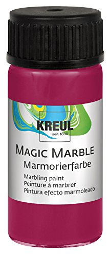 KREUL 73207 Magic Marble Marmorierfarbe, 20 ml, rubinrot von KREUL