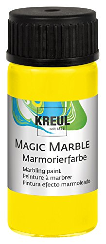 Kreul 73202 Magic Marble Marmorierfarbe, 20 ml, zitron von Kreul