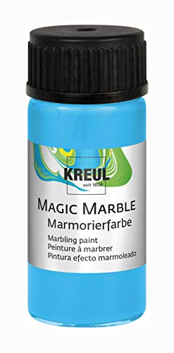 KREUL 73210 Magic Marble Marmorierfarbe, 20 ml, hellblau von Kreul