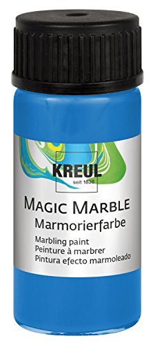Kreul 73211 Magic Marble Marmorierfarbe, 20 ml, Blau von Kreul