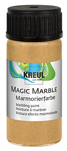 KREUL 73220 Magic Marble Marmorierfarbe, 20 ml, gold von Kreul