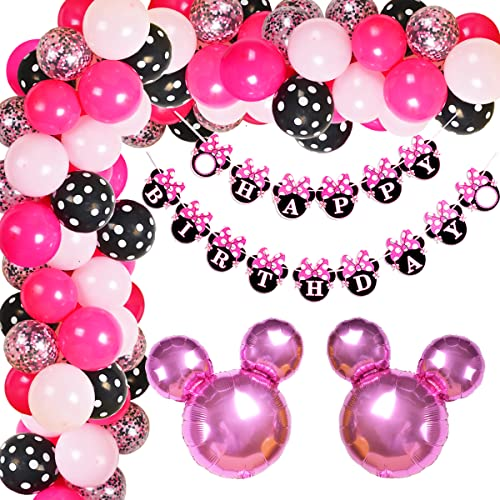 Kreatwow Minnie Ballon Garland Arch Kit für Minnie unter dem Motto Birthday Party Dekorationen oder Baby Shower Supplies von Kreatwow