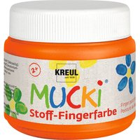 MUCKI Stoff-Fingerfarbe, 150 ml - Orange von Kreul Kinder