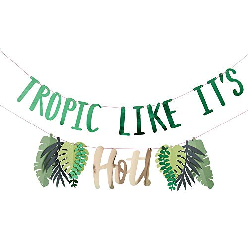 Luck and Luck Wimpelkette, Motiv: Tropic Like It Hot Party-Dekoration, 2 m von Luck and Luck