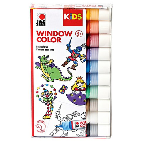 Marabu KIDS Window Color-Set Grundfarben von Marabu