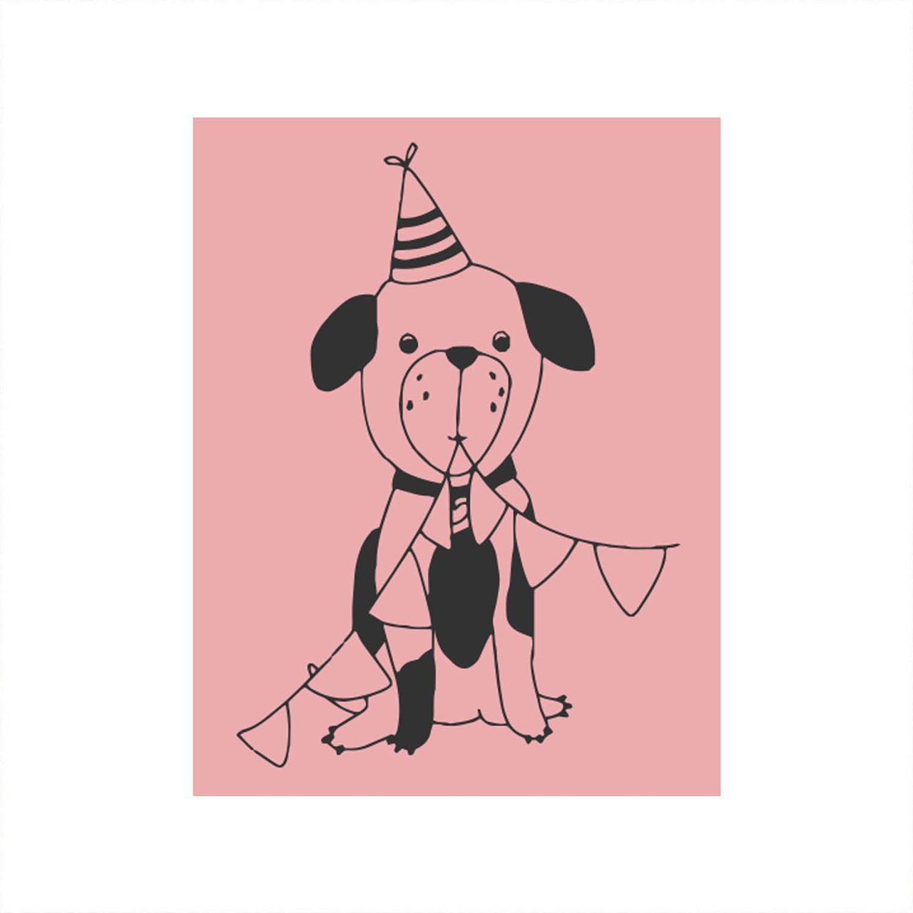May&Berry Stempel Hund rosa 35x45mm von May&Berry