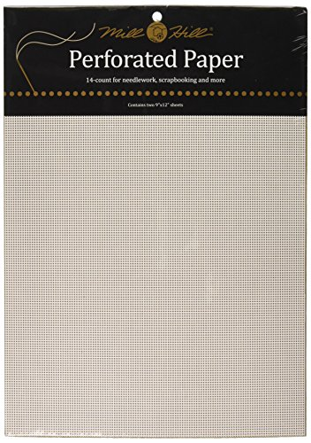 Mill Hill 14 Count Perforated Paper, 9 by 12-Inch, White, 2 Per Package von Mill Hill