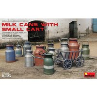 Milk Cans with Small Cart von Mini Art