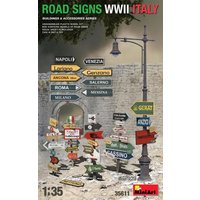 Road Signs WWII Italy von Mini Art
